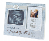 Lillian Rose Blue Ultrasound Picture Frame